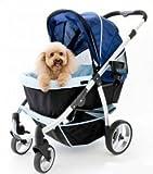 InnoPet® Hundebuggy Retro Hundewagen Hunde buggy -Aluminium Rahmen — braun bis 35kg - 5