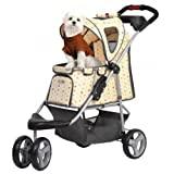InnoPet® Pet Stroller Precious Hundebuggy Hunde Buggy Buggie Hundewagen Monogram bis 20kg