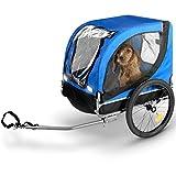 Bicycle gear - Hundeanhänger/Hundefahrradanhänger klappbar - 40 kg - 75x52x65cm - Blau/Schwarz