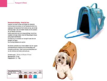 Wolters Transporttasche KellyDog azur Hunde Transporttasche Hundetransporttasche Hundebox Hundetasche Chihuahua 35x25x15cm - 3